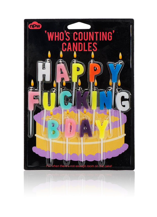 Happy Fucking Bday Candles - BodyFactory