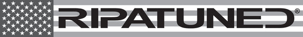 RIPATUNED LOGO STICKER (American Flag Grayscale)