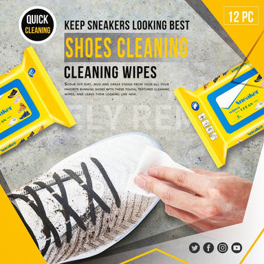 Shoes Cleaning Wipes (12Pcs/Pack) - planetshopper.net