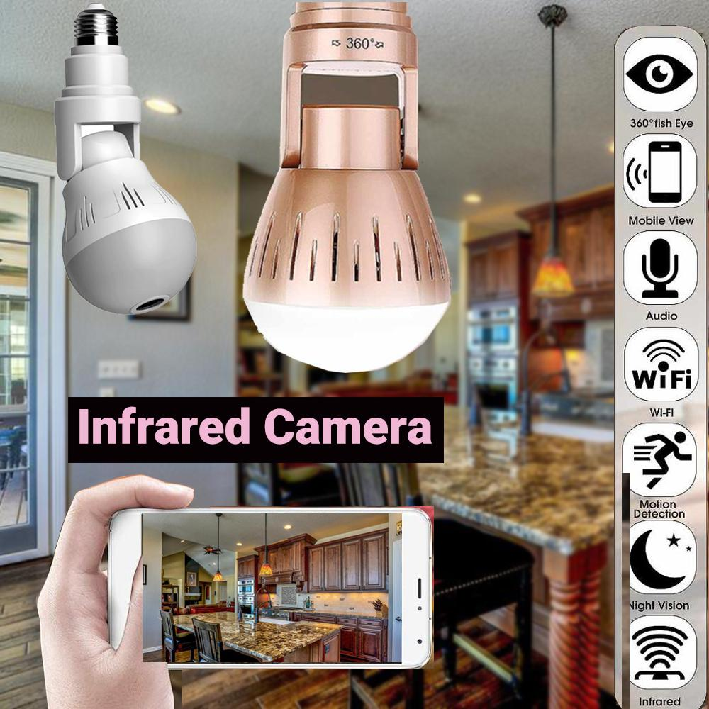 Bulb Lamp Light Wireless  Home Security Camera