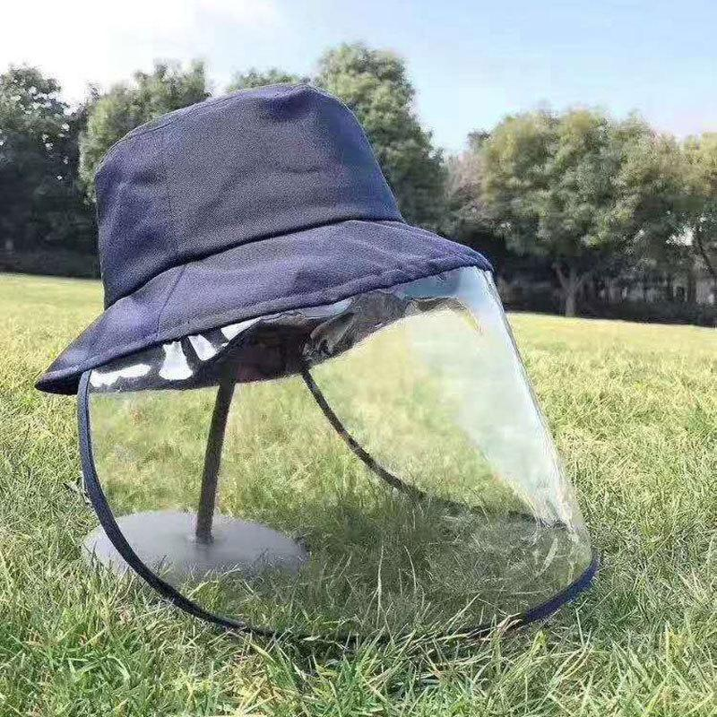 Reusable Face Shield Hat: Wind-proof, dust-proof, saliva-proof.
