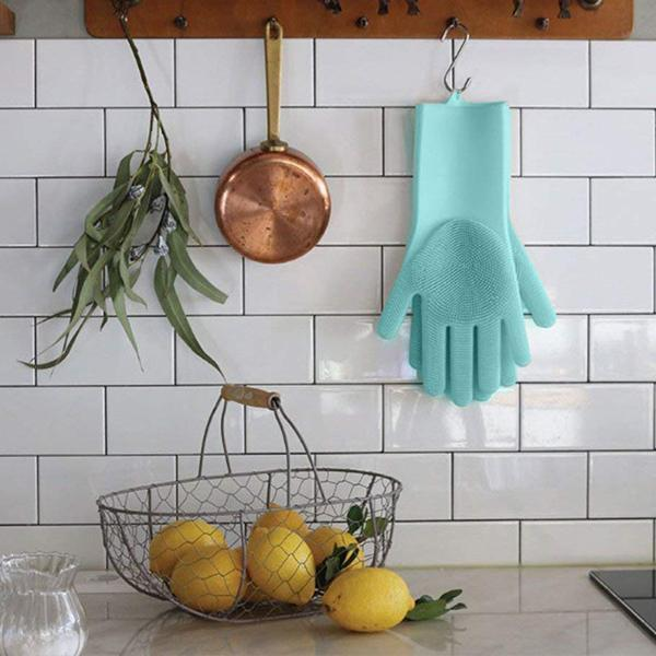Silicone Cleaning Gloves(1 Pair) - planetshopper.net