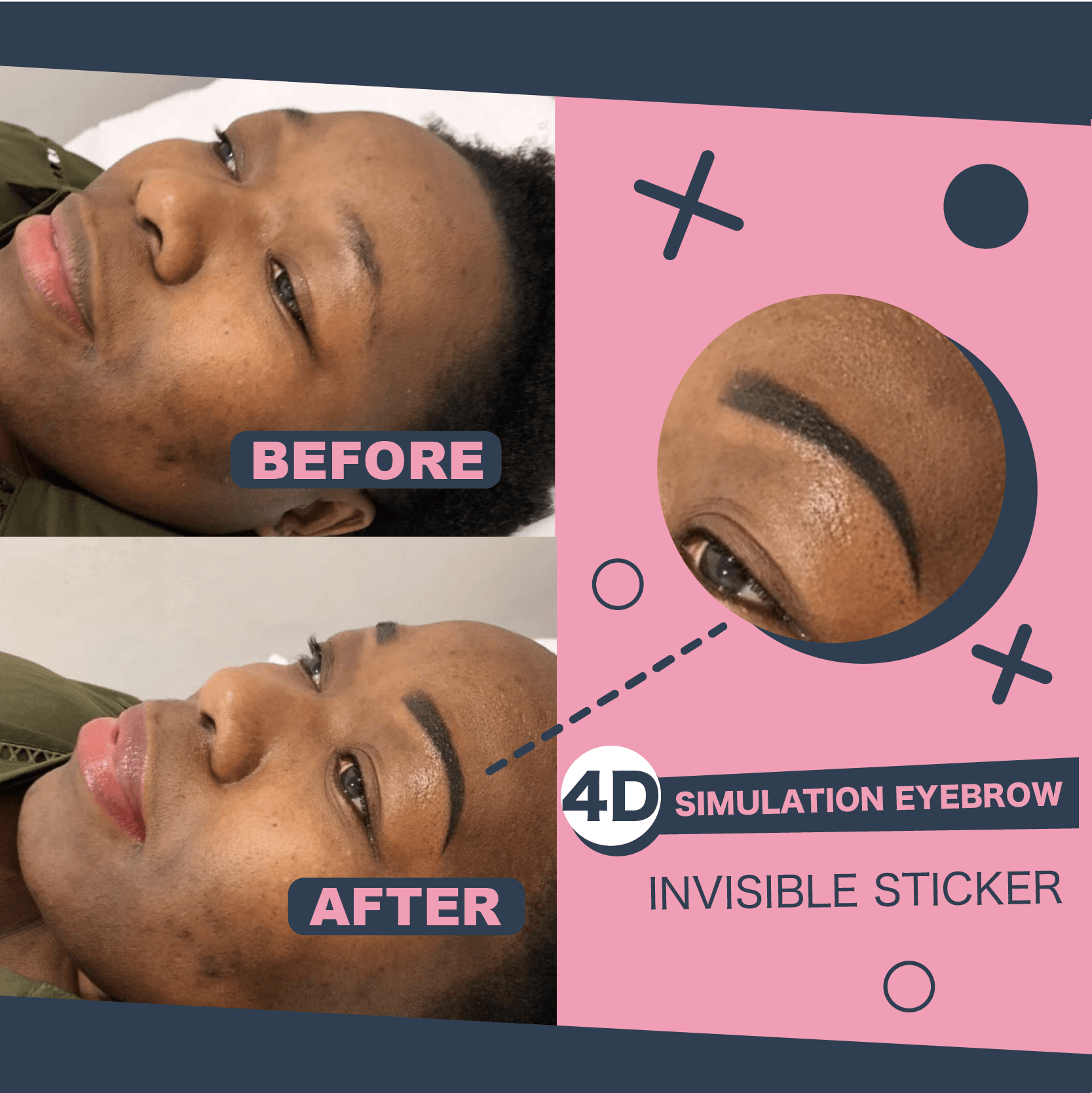 Impeccable Eyebrow Transfer Sticker