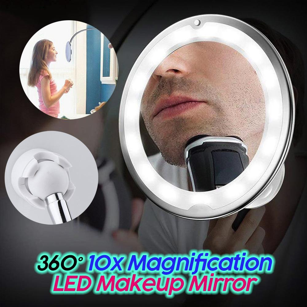 360° 10x Magnification LED Makeup Mirror