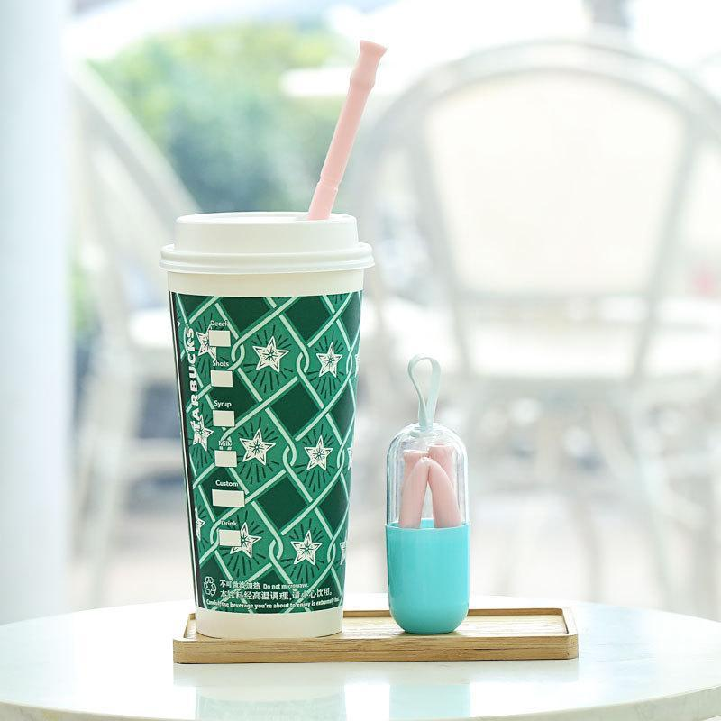 Reusable Silicone Straw With Case - planetshopper.net