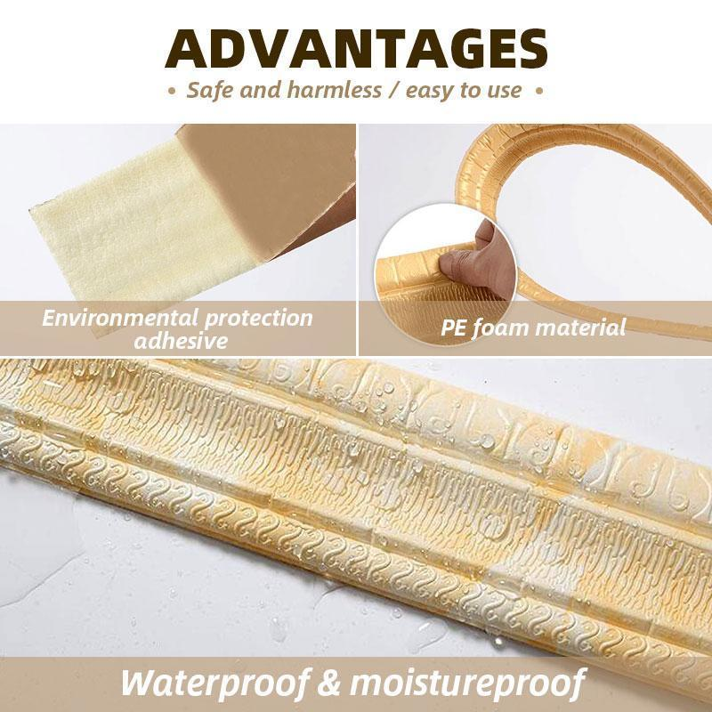 Self-adhesive Three-dimensional Wall Edging Strip (7.55 feet) - planetshopper.net