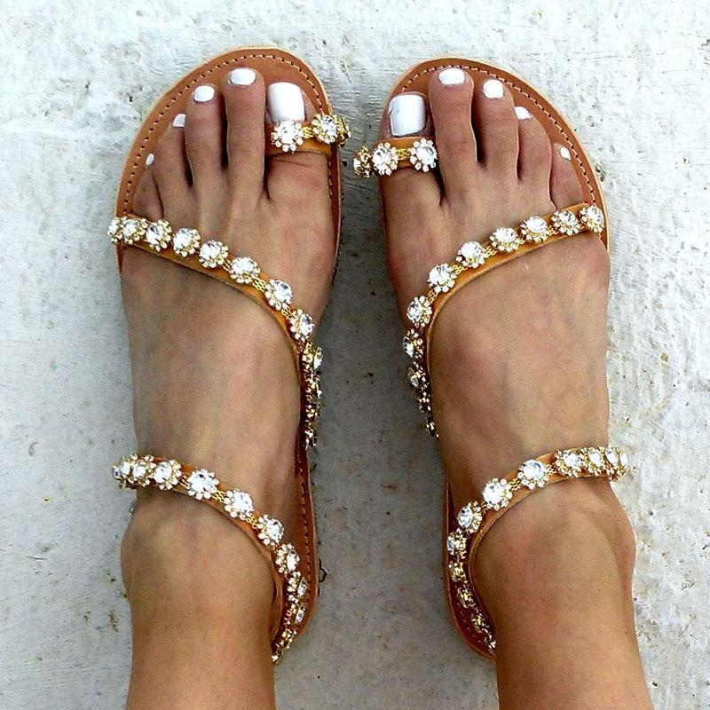 (Best seller) Boho Crystal Sandals
