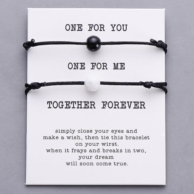 Couple Lucky Together Forever Wish Bracelet Set - planetshopper.net