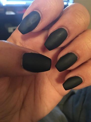 BK Matte Black Nail Polish