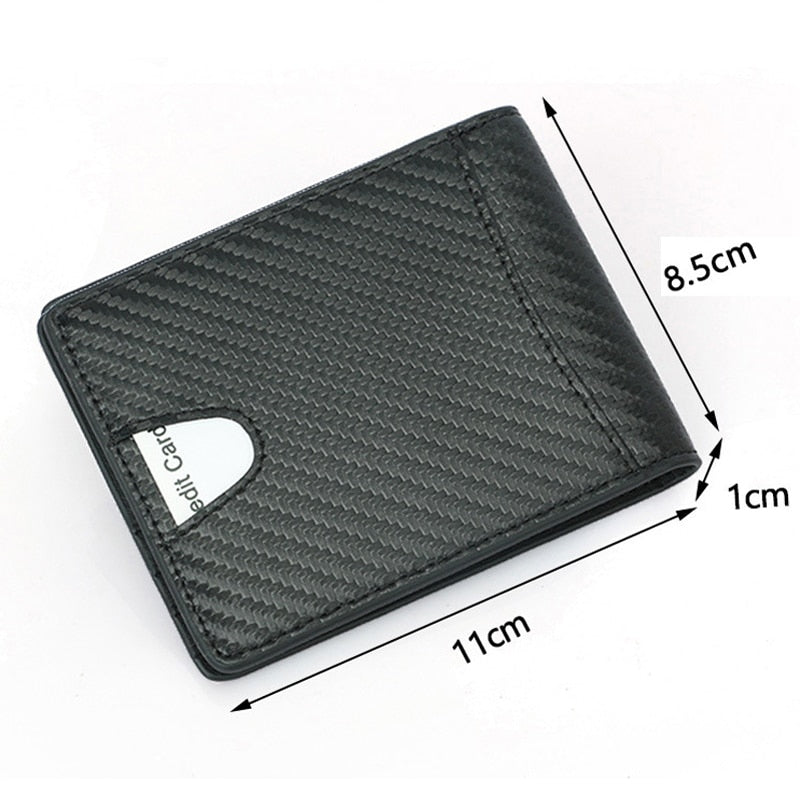 Slim Carbon Fiber Leather Wallet