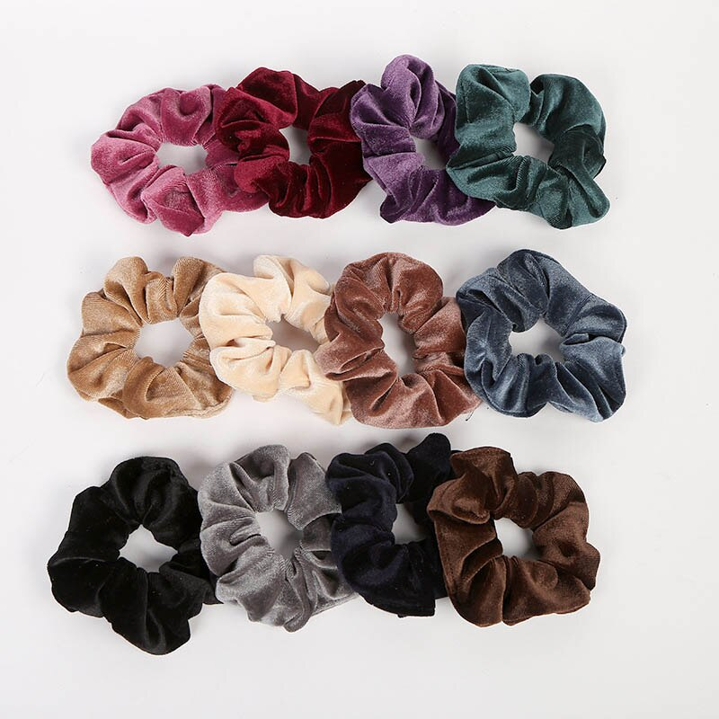 Set of 12 Hair Scrunchies