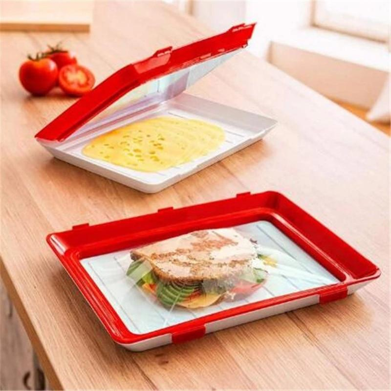 REUSABLE AIR-TIGHT FOOD STORAGE TRAY