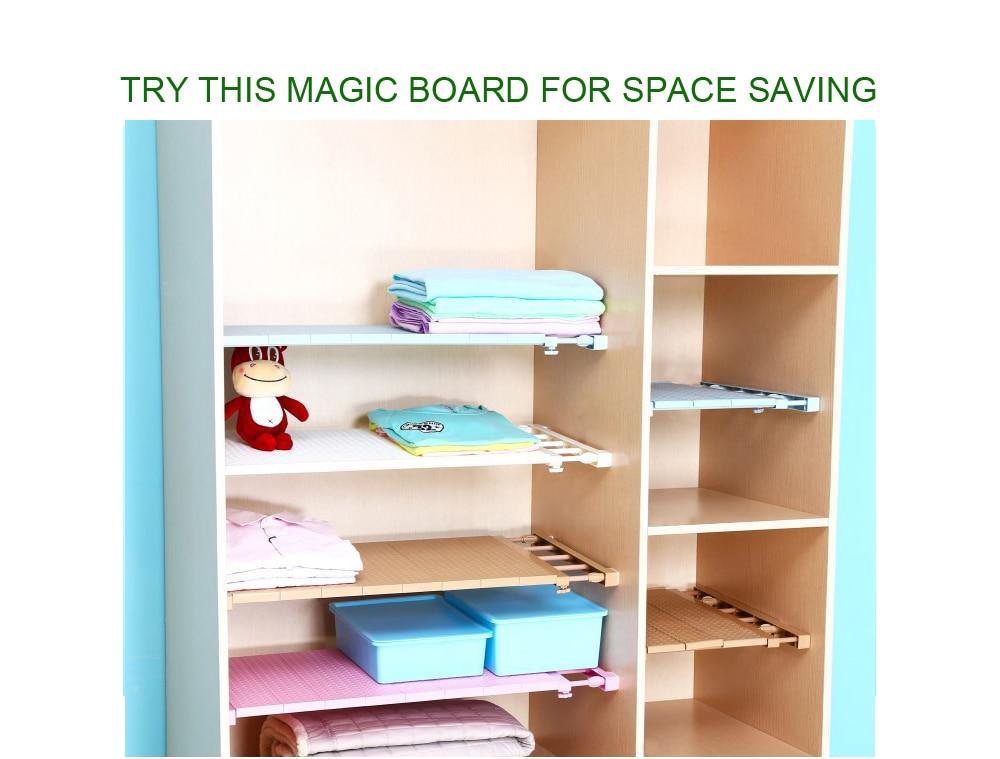 Adjustable Closet Organizer Shelf
