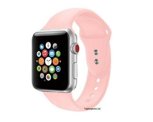Silicone Strap Band for Apple Watch Sports Series 5/4/3/2/1 38mm 40mm 42mm 44mm - planetshopper.net