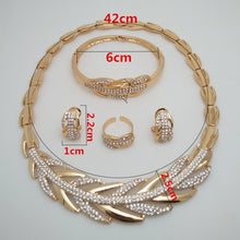 Load image into Gallery viewer, Dubai Gold Color Jewelry Set