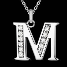 Load image into Gallery viewer, Letter A-S Pendant Necklace