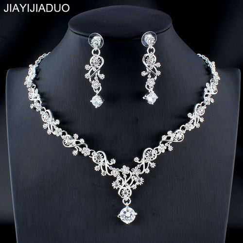 Classic silver/gold color jewelry set