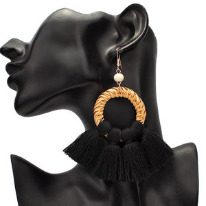 Straw Rattan Earrings