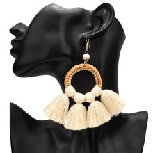 Load image into Gallery viewer, Straw Rattan Earrings