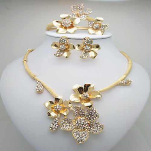 Ethiopian Gold color Snail Design Jewelry Set