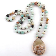 Load image into Gallery viewer, Natural Stone Beaded Necklace