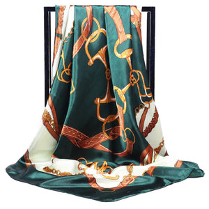 Luxury Twill Silk Scarf Women