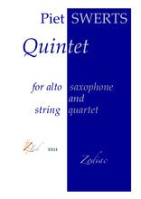 Load image into Gallery viewer, ZESX11 QUINTET saxophone and string quartet (full set)