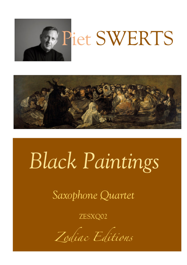 ZESXQ02 BLACK PAINTINGS saxophone quartet (full set)