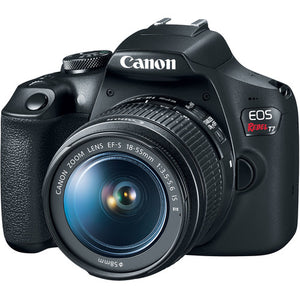 Canon EOS Rebel T7 DSLR Camera with 18-55mm and 75-300mm Lenses