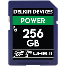 Load image into Gallery viewer, Delkin Devices 256GB POWER UHS-II SDXC Memory Card