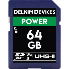 Load image into Gallery viewer, Delkin Devices 64GB POWER UHS-II SDXC Memory Card
