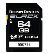 DELKIN DEVICES- Black SD UHS-I V30 Memory Card