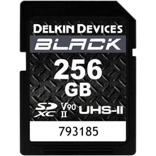 Load image into Gallery viewer, Delkin Devices 256GB BLACK UHS-II SDXC Memory Card