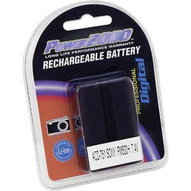 Power2000 NP-FM500H Replacement 7.4v, 2000mAh Lithium Ion Battery for Sony NP-FM500h Camera Battery