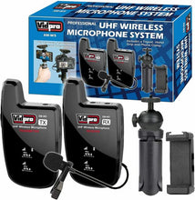 Load image into Gallery viewer, VIDPRO XM-W5 PROFESSIONAL UHF SHOE MOUNT WIRELESS MICROPHONE SYSTEM