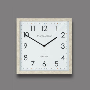 "Thomas Kent 12"" Smithfield Wall Clock  - Soaped Oak"