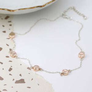 Rose Gold Disc Necklace
