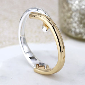 POM Interlinked Gold & Silver Hinged Bracelet JWR