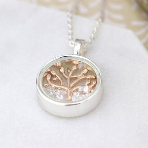 POM Gold Tree of Life In circle necklace JWR