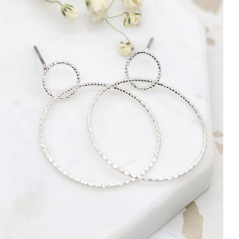 Textured Wire Hoop Earrings