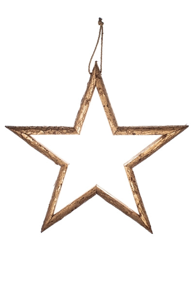 Large Gold Wooden Star - XMAS