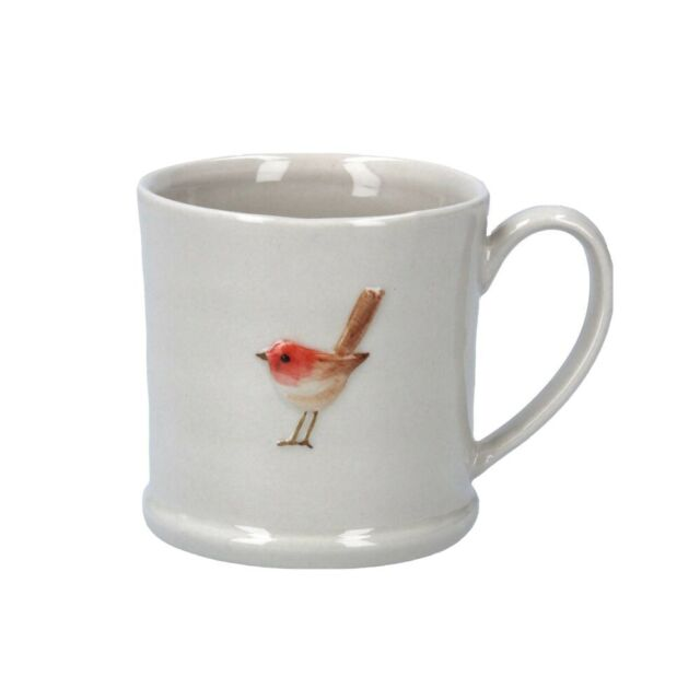 Gisela Graham Ceramic Mini Mug with Robin XMAS