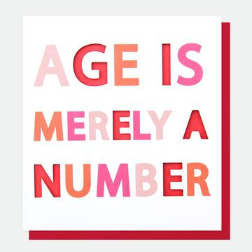 Age is Merely a Number Card