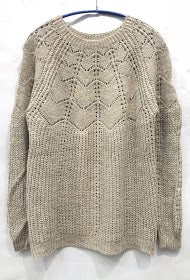 Lace Long Sweater- Clothing