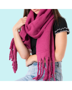 Miss Sparrow Chunky Plain Knit Scarf - ACCESSORIES