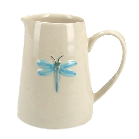 Gisela Graham Ceramic Mini Jug Blue Dragonfly