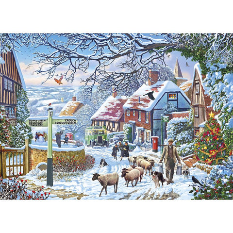 A winter stroll 1000 piece jigsaw