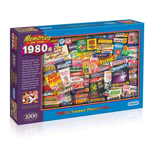 1980s Sweet Memories 1000 piece jigsaw