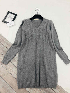 V Neck Tunic Jumper with Scarf