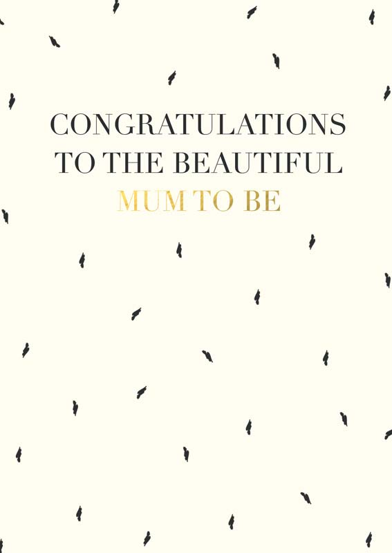 Congratulations to the beautiful mum to be